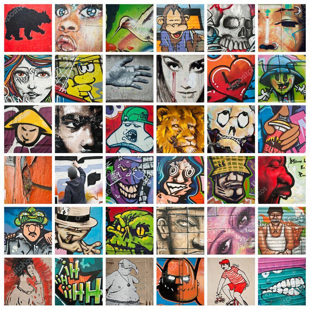 Urban art collage