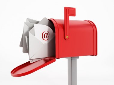 Mailbox with enveloppes