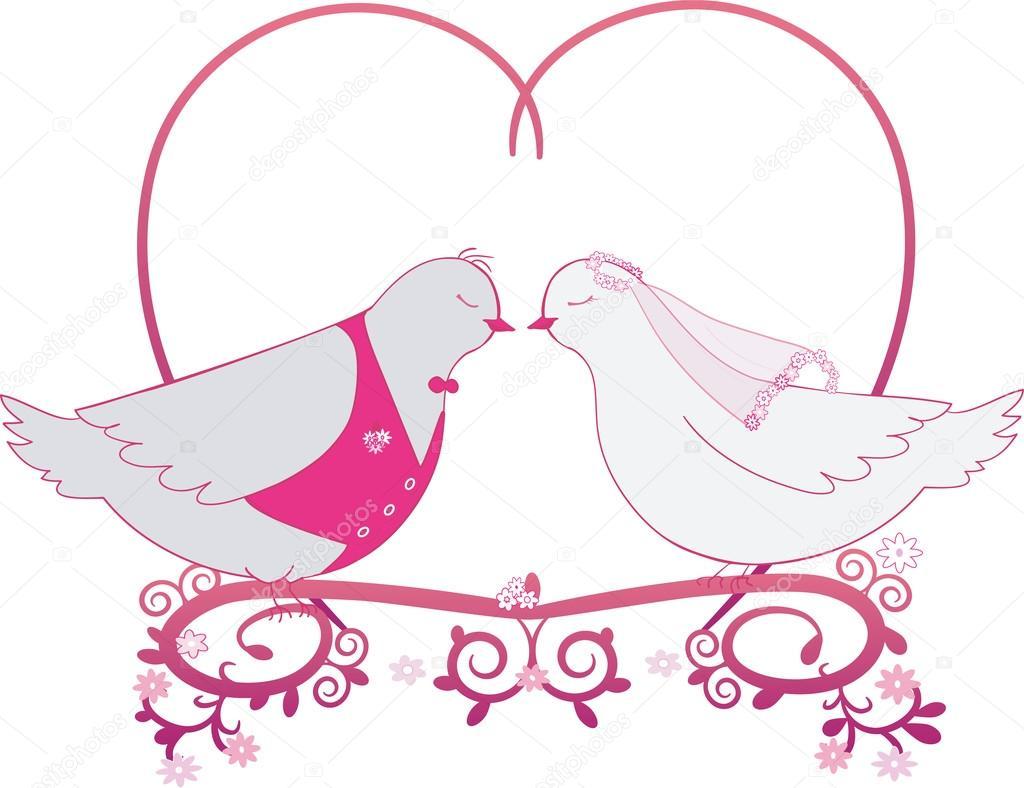 свадебные картинки голуби вектор публикации лучше легче