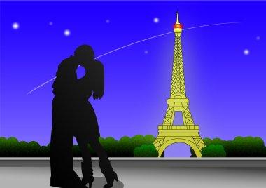 Paris Landscape clip art vector