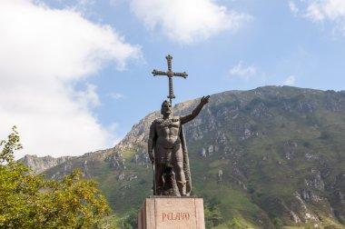 Don Pelayo statue in Covadonga