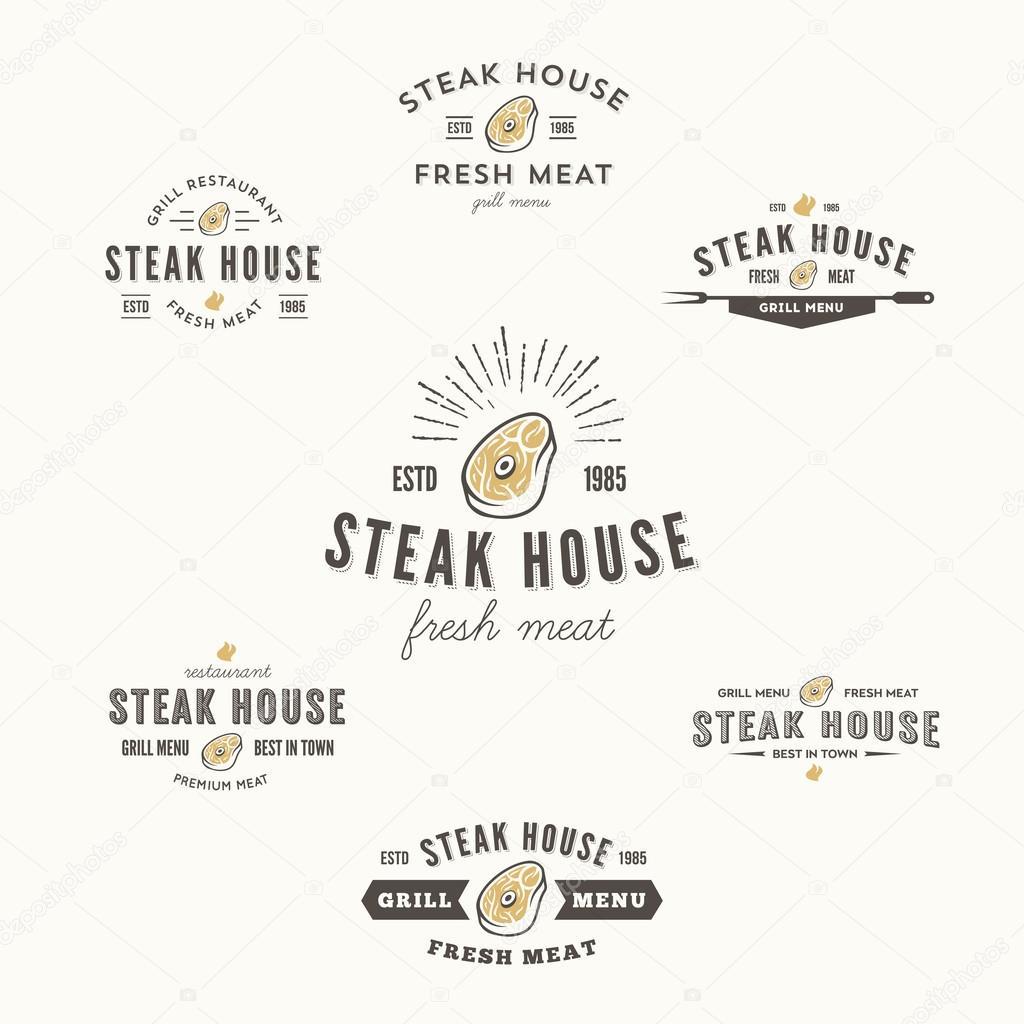 Raccolta di griglia bistecca etichette scudetti ed for Elementi di design