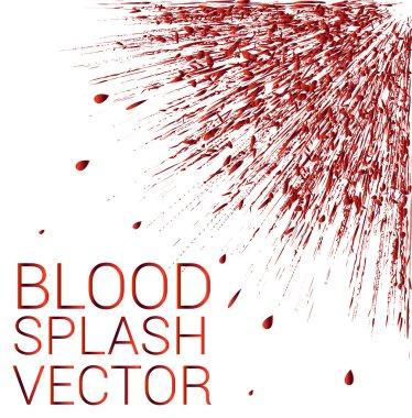 Vector blood splash on white background clip art vector