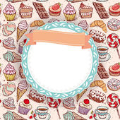 Fotografie Hand drawn Cupcakes pattern