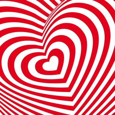Red heart Valentines day card.