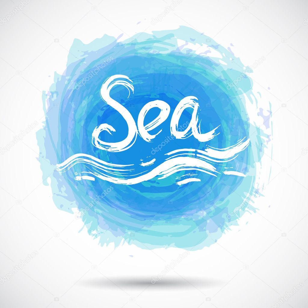 Sea Grunge background