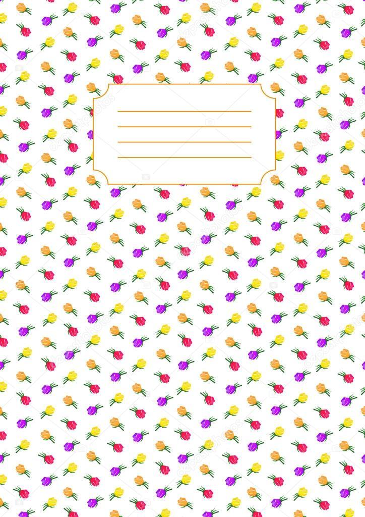 Assez Rose flower print cover for copybook — Stock Vector © trefalga  HY74
