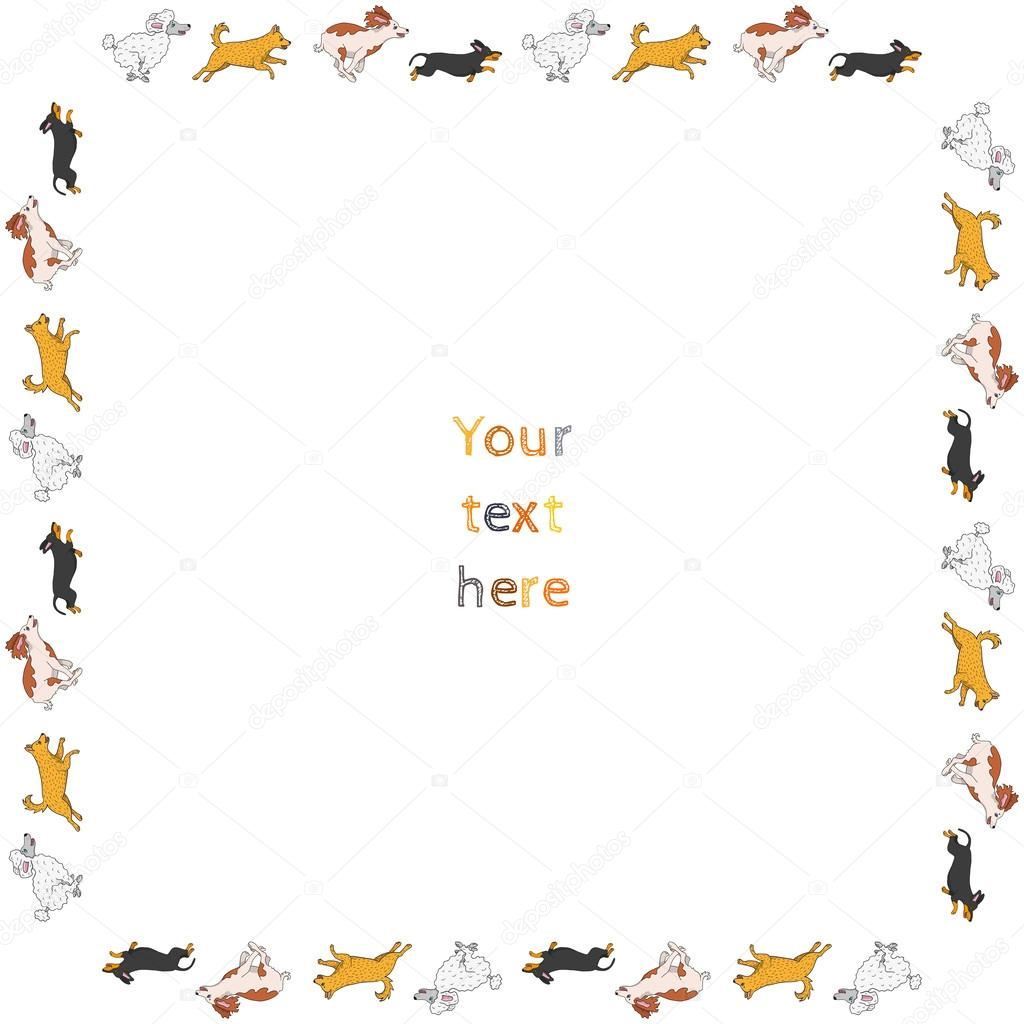 marco de perro — Vector de stock © trefalga #51660689