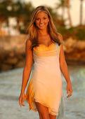 Photo Model in summer dress