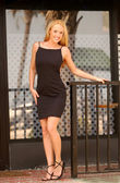Photo Black Evening Dress - Blond Published Model - Several Views