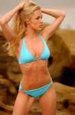 Photo Blue Bikini - Rock and Ocean Background - Passive Look