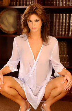 Laura Croft - Playboy's Miss July 2008 Playmate - Gorgeous, buxom, and shapely brunette knockout - professional bikini and lingerie model - large breasts and cleavage - tight tone skin and torso - pretty smile and alluring eyes - ruby red lips