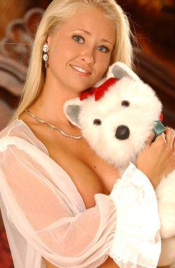 Sheer Robe - Teddy Bear - Happy Girl