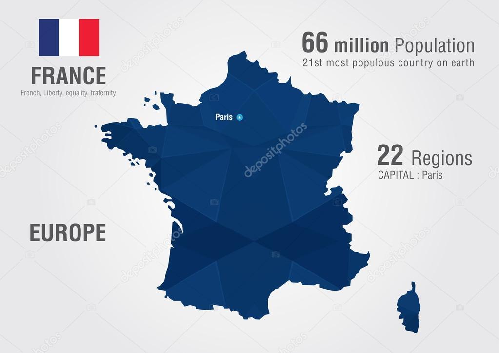 Mapa mundial de francia con una textura de diamante pixel vector carte du monde de france avec une texture de diamant de pixel gographie du monde vector de kameonline gumiabroncs Image collections