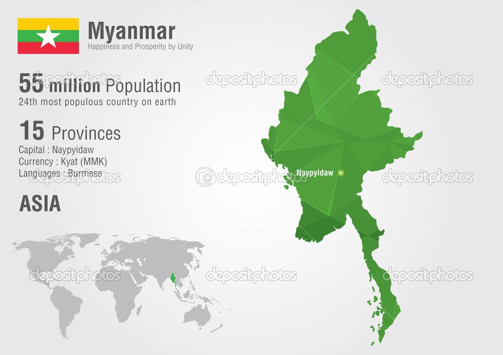 Myanmar Map Asia