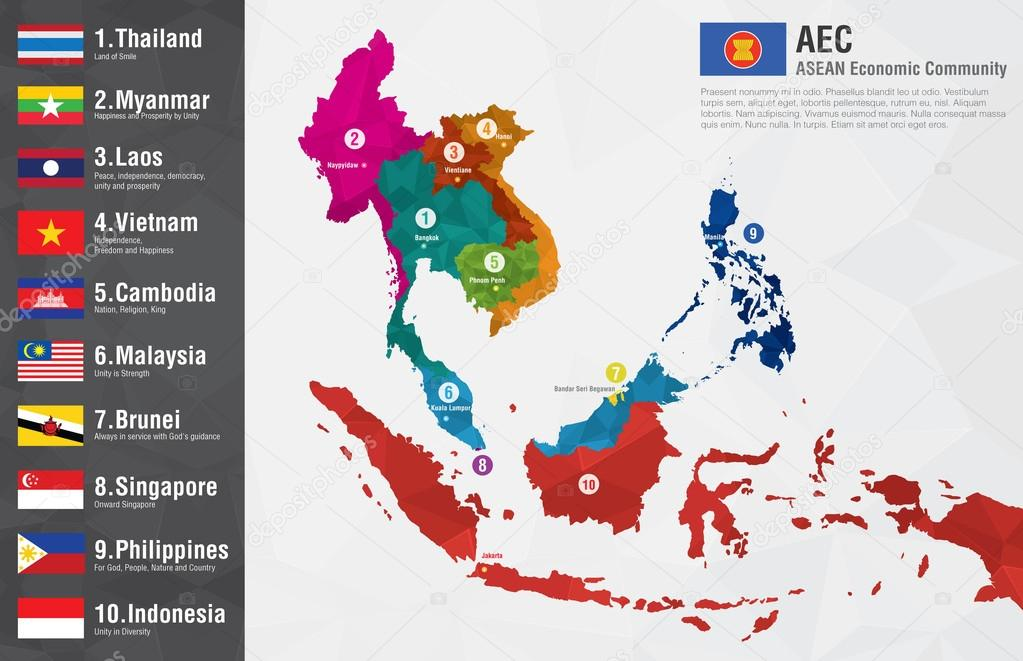Aec asean economic community world map with a pixel diamond text aec asean economic community world map with a pixel diamond text stock vector gumiabroncs Gallery