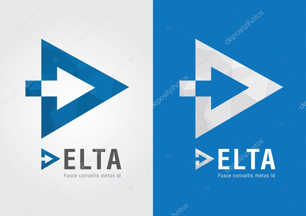D Delta Symbol For Your Business Success Stock Vector