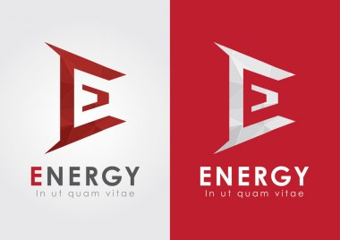 E Energy icon from an alphabet. Business Movement.
