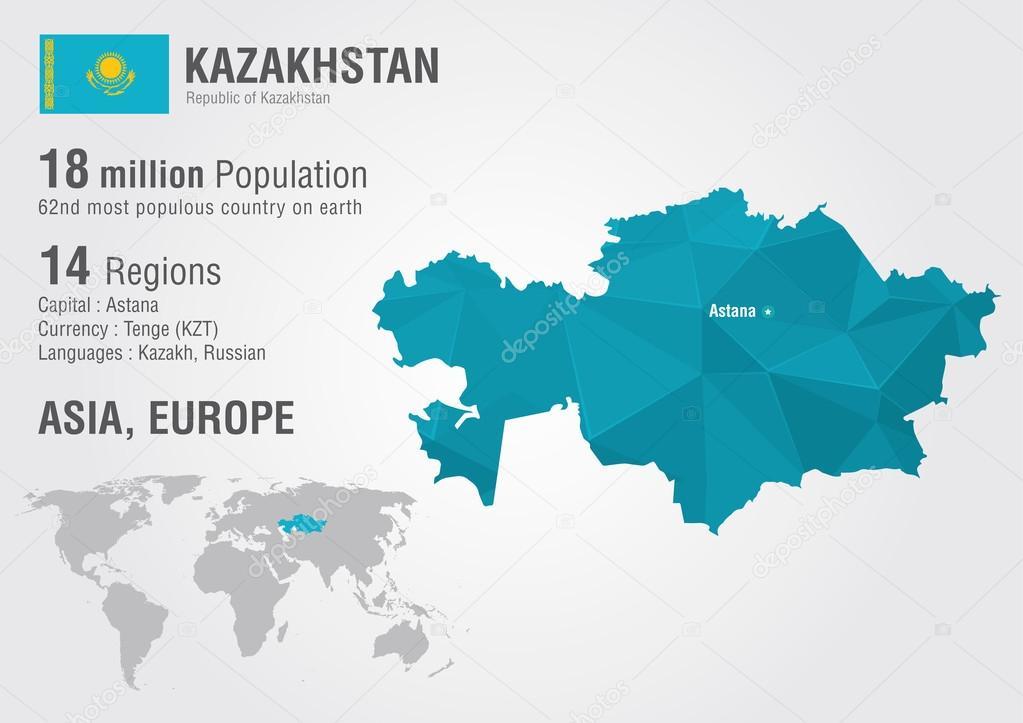 Kazakhstan world map with a pixel diamond texture stock vector kazakhstan world map with a pixel diamond texture stock vector gumiabroncs Images