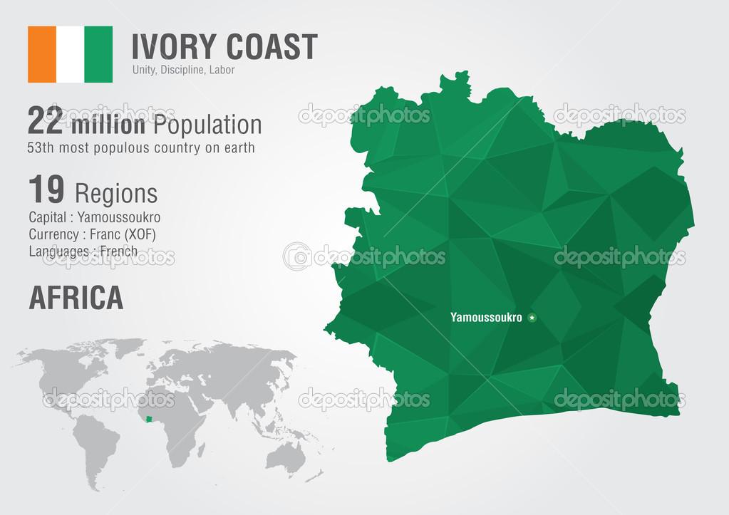 Ivory coast world map with a pixel diamond texture stock vector ivory coast world map with a pixel diamond texture stock vector gumiabroncs Images