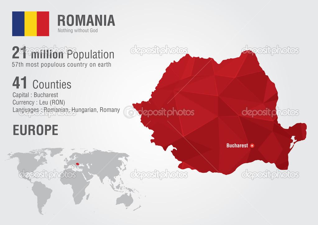 Romania world map with a pixel diamond texture stock vector romania world map with a pixel diamond texture stock vector 51146915 gumiabroncs Choice Image