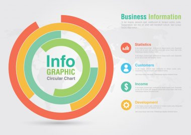 Business circular chart infographic. Business report creative ma