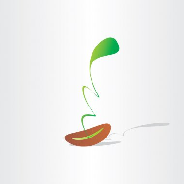 seed germination abstract plant birth growth eco design