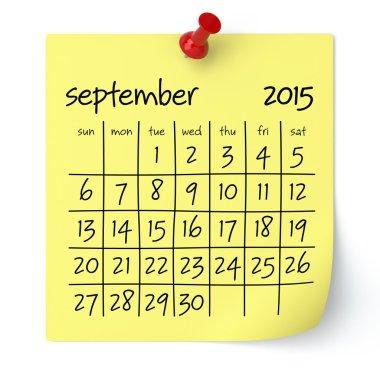 September 2015 - Calendar
