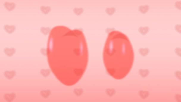 Endlos wiederholbar Rosa Liebe Hintergrund mit Herzen