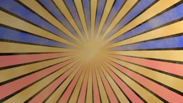loopable bezešvé retro pozadí video - červené a modré