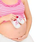 těhotná žena čeká holčičku