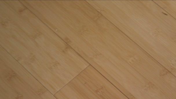 Bamboe vloer u stockvideo vesperstock