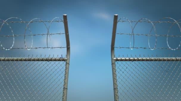 ostnatý drát plotu otevírání