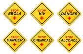 varovné příznaky sada