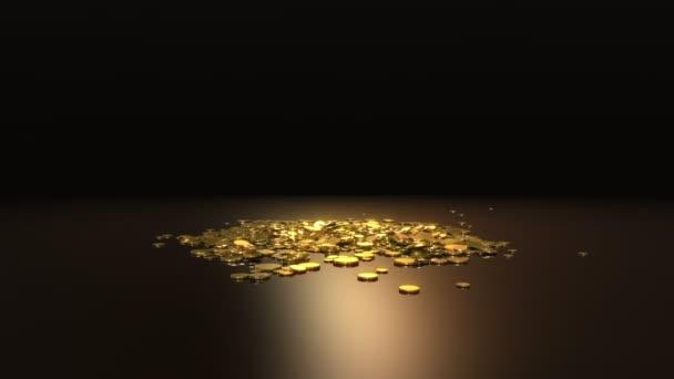 pomalu klesající symbol dolaru a mette