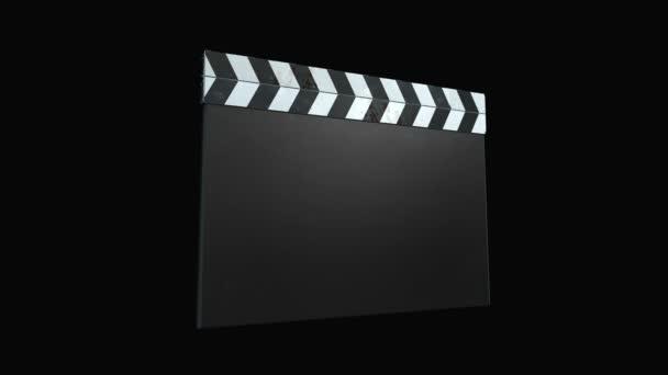 Clapperboard film - négy animációk és alfa