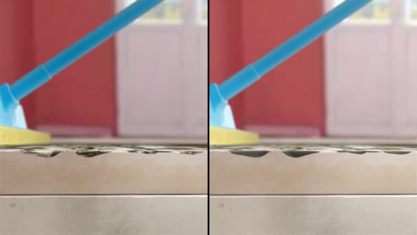 Washing dirty floor Animation