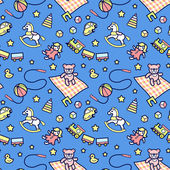 Fotografie Kids toys pattern