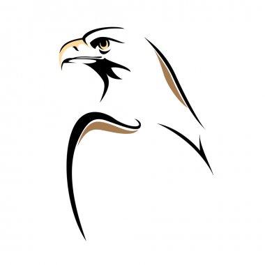 Eagle line sketch