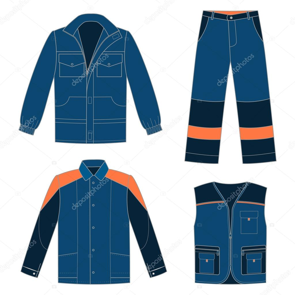 Set of protective work wear