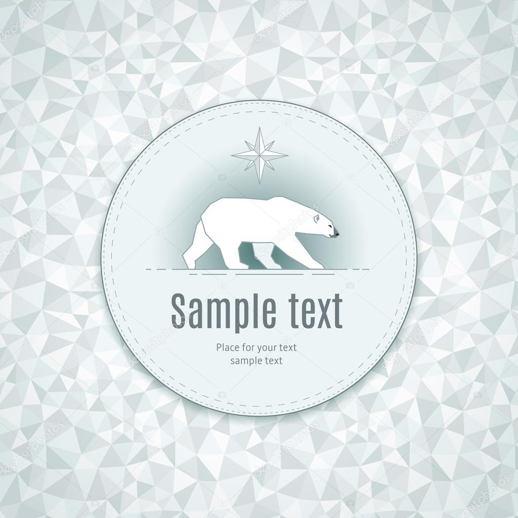 Polar bear in round frame — Stock Vector © reinekke #51709519