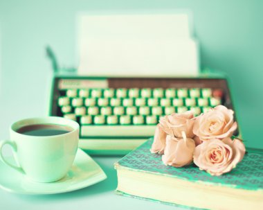 Vintage Still Life with Roses
