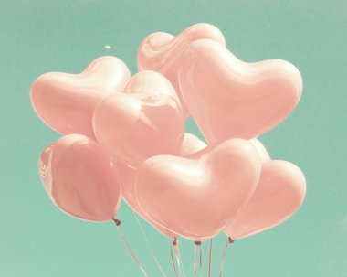 Love Balloons on Mint Sky