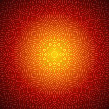 Beautiful Indian Pattern Design stock vector