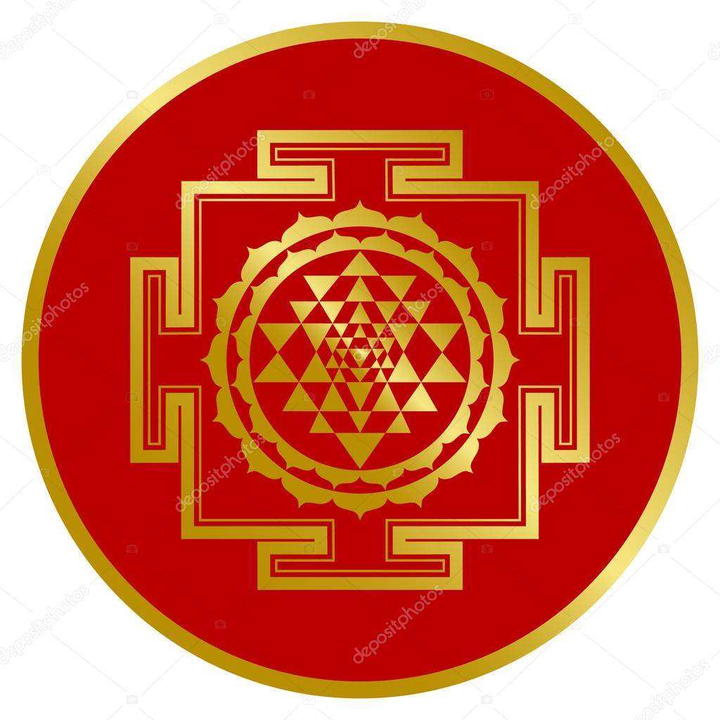 Pics: sri yantra | Golden Shree Yantra Design — Stock Vector