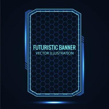 Futuristic banner