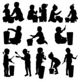 Fotografie Children silhouettes