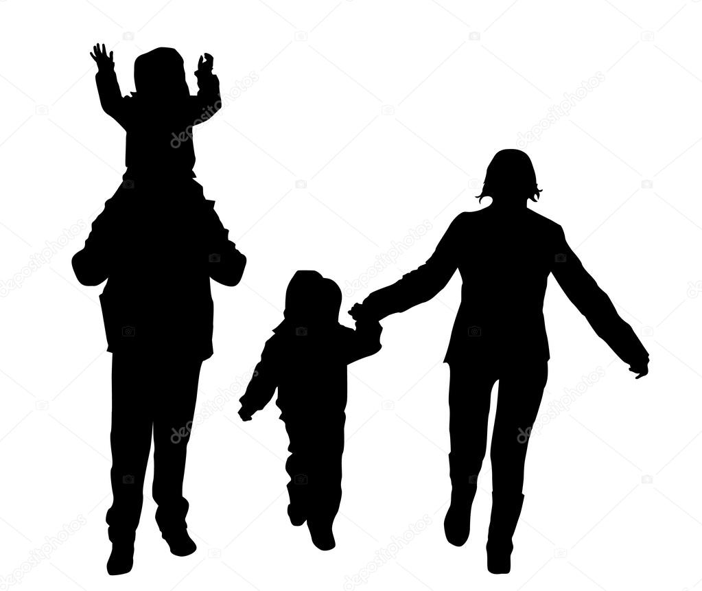 Simbolo Familia Unida Familia Unida Vector De Stock Eobrazy