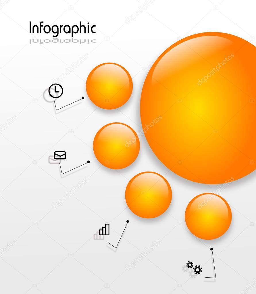 Infografía plantilla con círculos — Foto de stock © sidliks #51065599