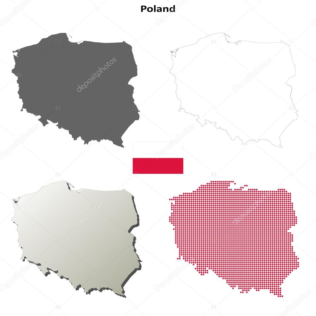 Picture of: Blank Map Of Poland Poland Map Outline Set Stock Vector C Davidzydd 51658291